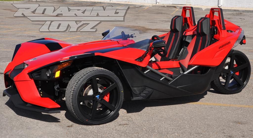 slingshot custom wheel package 20 22 black polaris slingshot